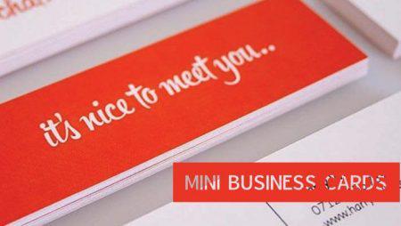 Mini card, kiểu in name card siêu nhỏ đang hot tại nước ngoài
