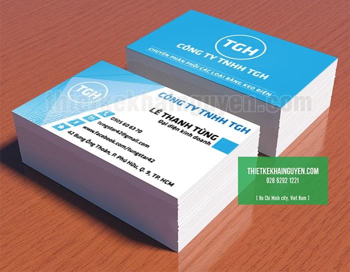 Thiết kế card visit công ty TNHH TGH - phân phối các loại băng keo điện
