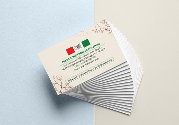 Mẫu name card đẹp của nhà hàng Nhật - Jinjin
