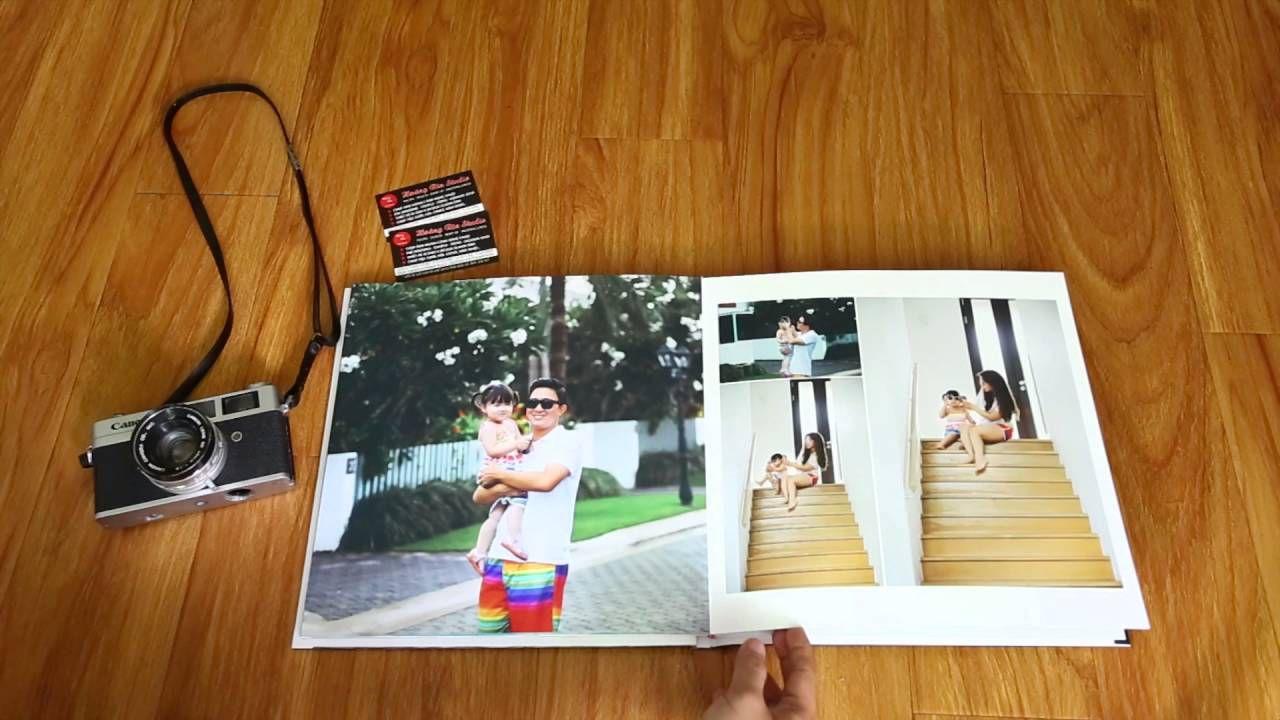 Mẫu sách ảnh gia đình dạng mở phẳng siêu đẹp