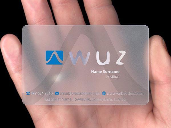 Card visit nhựa trong ép kim - in thẻ nhựa cao cấp