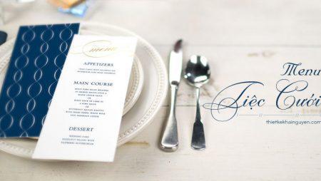 In menu tiệc cưới chuyên nghiệp, nhanh, chuẩn, đẹp tại TPHCM