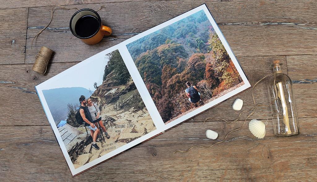 Mẫu photobook du lịch mở phẳng siêu đẹp