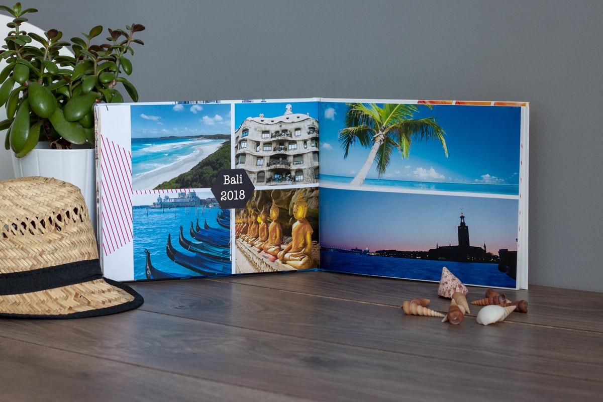 Thiết kế photobook du lịch với màu xanh chủ đạo