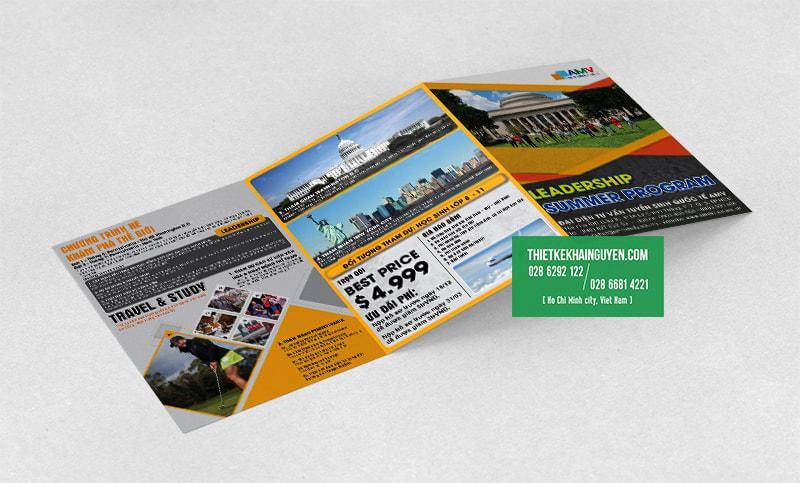 Thiết kế brochure anh ngữ khổ lớn