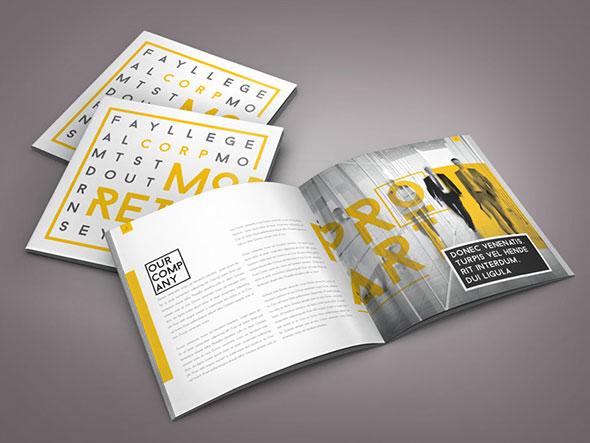Thiết kế brochure phong cách Typography