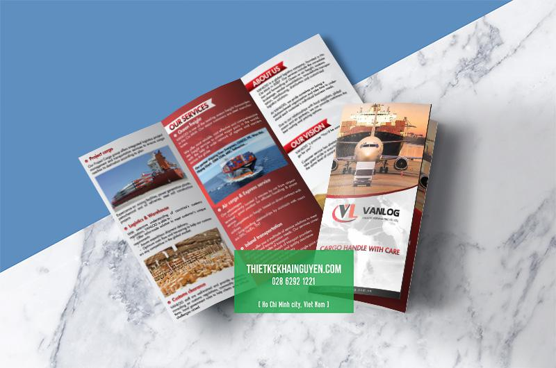 In brochure a4 gấp 3 - brochure xuất nhập khẩu