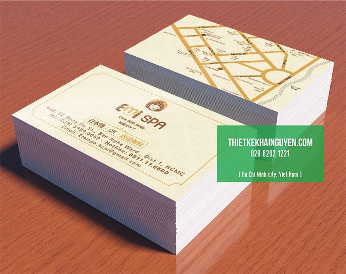 Card visit trong bộ thiết kế thương hiệu spa Emi