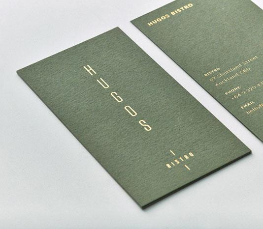 In card visit giấy màu kết hợp ép kim vàng