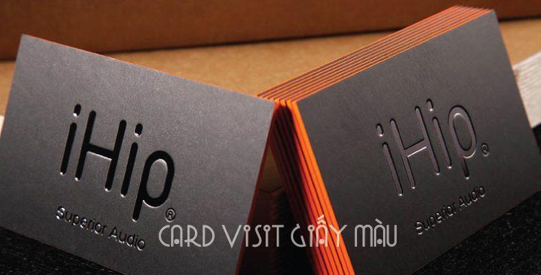 In card visit giấy màu - giấy mỹ thuật