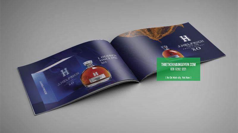 Mẫu thiết kế catalog rượu XO