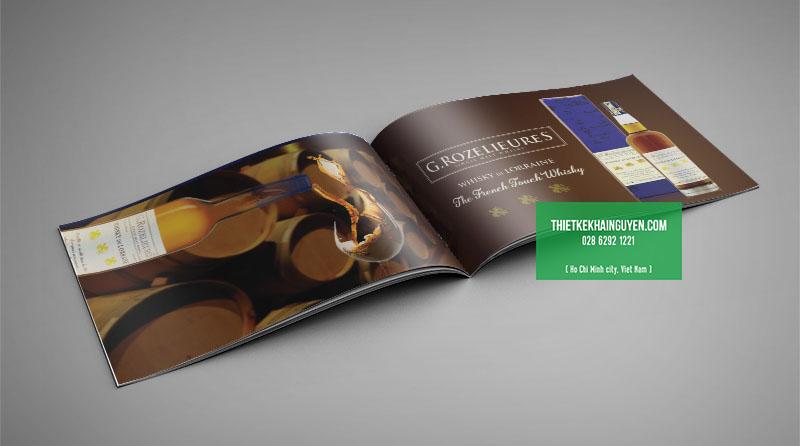 Wine catalogue design - rượu whisky của Pháp