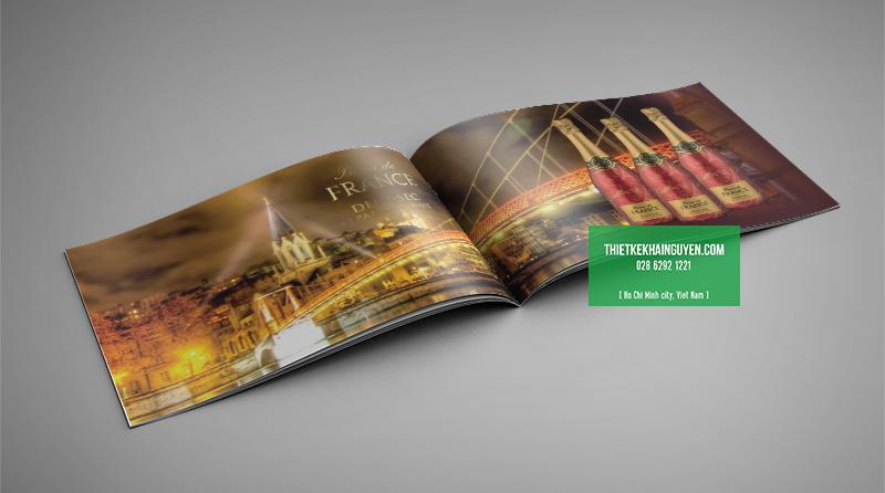 Thiết kế catalog rượu vang Pháp