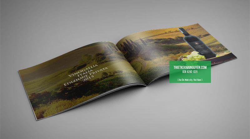 Mẫu thiết kế catalogue rượu vang ý