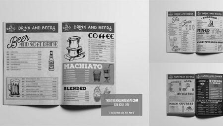 Thiết kế menu nhà hàng Bistro – Menu Sài Gòn Bistro