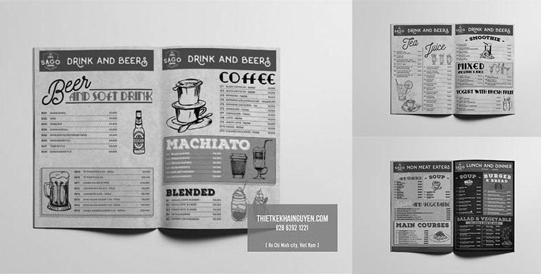 Cover thiết kế menu bistro đẹp
