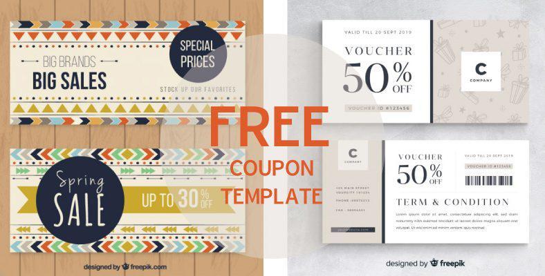 Mẫu coupon, voucher free tháng 11 2018