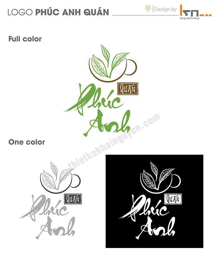 Mẫu thiết kế logo quán trà - Phúc Anh Quán
