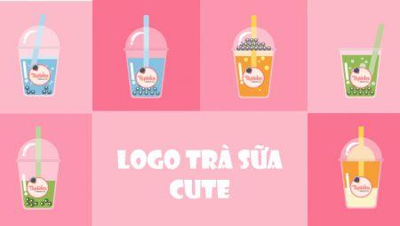 Mẫu logo trà sữa đẹp – thiết kế logo quán trà sữa tại TPHCM