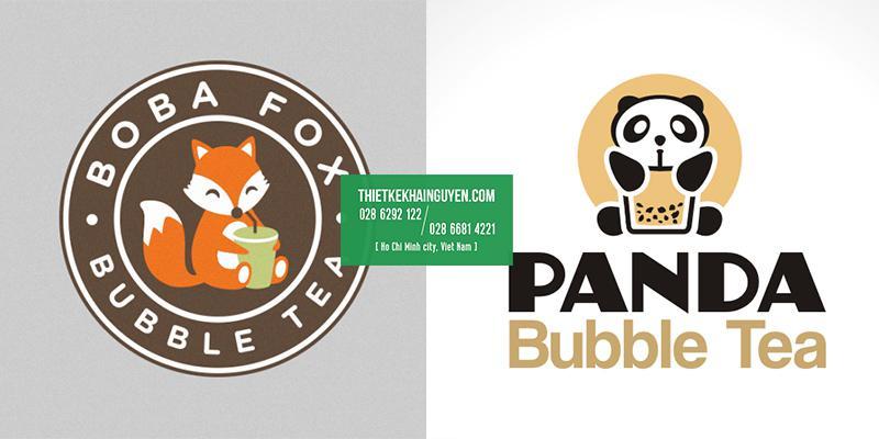 Thiết kế logo trà sữa thú cưng siêu dễ thương