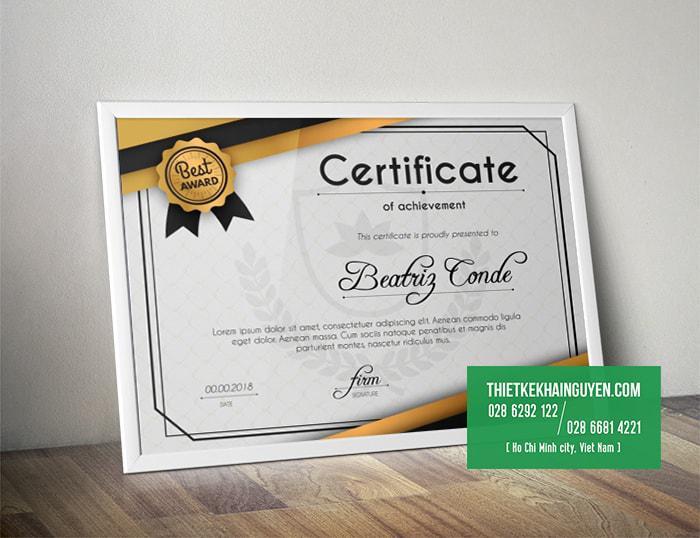 Certificate Template - mẫu giấy chứng chỉ