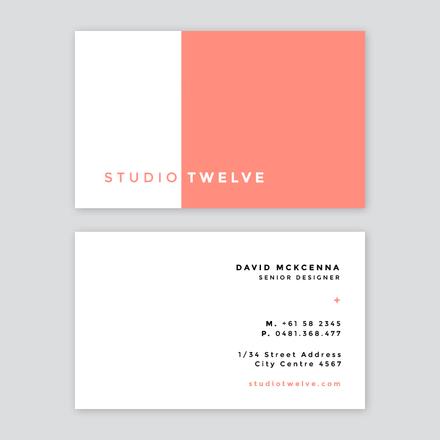 Thiết kế card visit đối lập - mẫu name card đẹp