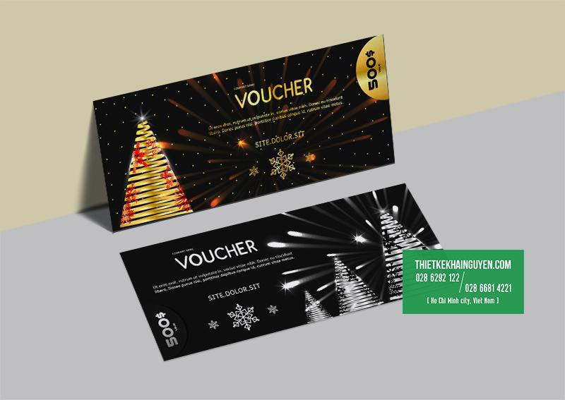 Mẫu thiết kế voucher Giáng Sinh