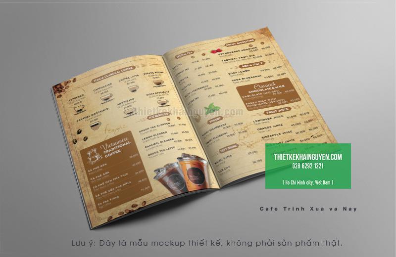 Mẫu thiết kế menu nước mang hơi thở cổ điển