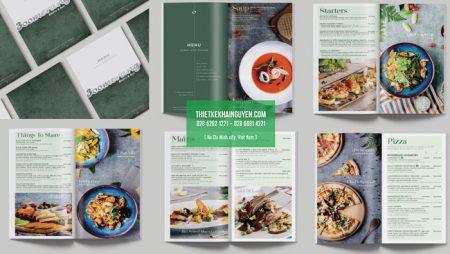 Giới thiệu bộ thiết kế thực đơn nhà hàng Boomerang Sài Gòn