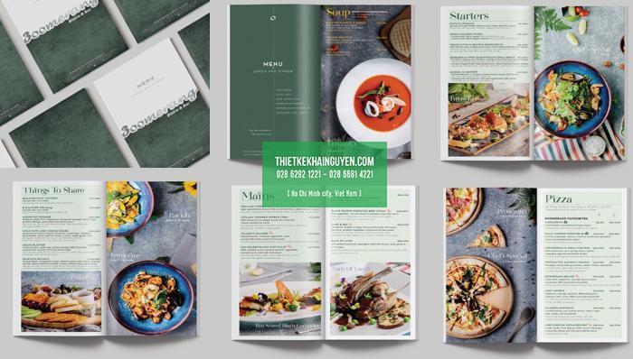 Sở hữu menu nhà hàng đẹp là lợi thế cực lớn để phát triển