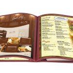 Thiết kế menu cho thực đơn bìa kiếng