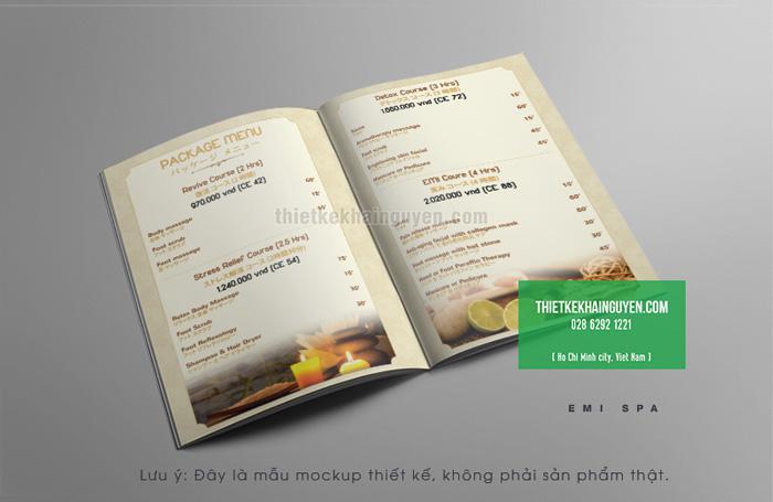 Thiết kế menu spa Emi Phần 3