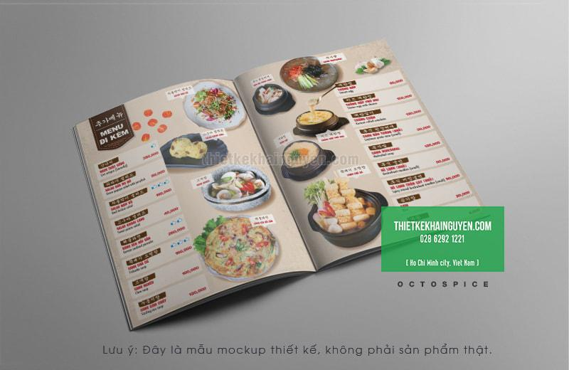 Thiết kế thực đơn đẹp cho nhà hàng Hàn Quốc