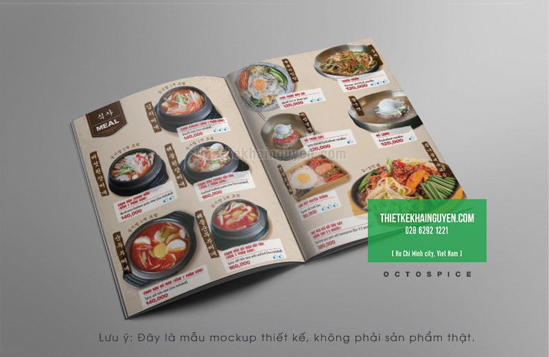 Phần mì trong thiết kế thực đơn nhà hàng Hàn Quốc