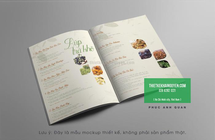 Mẫu thiết kế menu quán trà