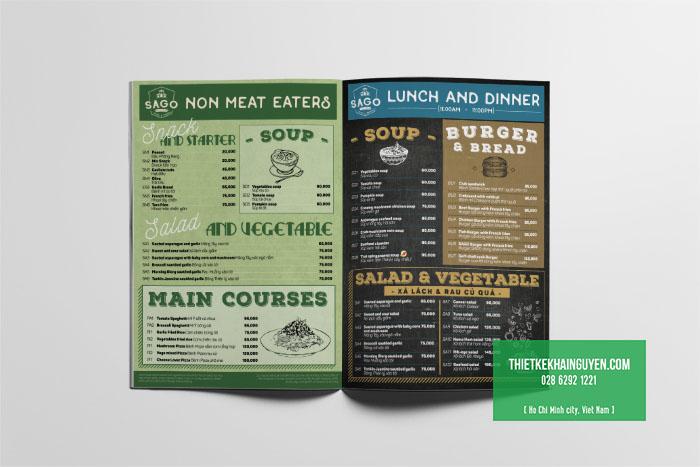 Mẫu menu phong cách Bistro ấn tượng