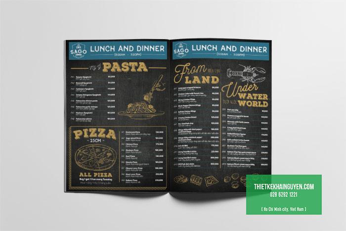 Mẫu thiết kế menu nhà hàng Bistro đặc sắc