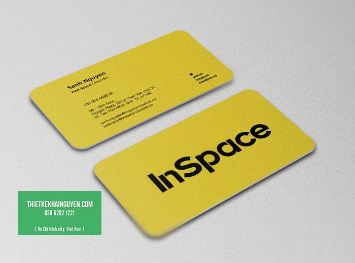 In name card nhựa nhũ vàng đặc sắc