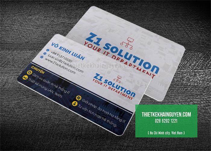 Làm name card bằng thẻ nhựa trắng PVC