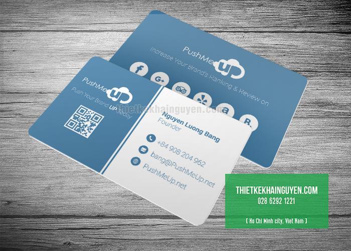 Thiết kế name card nhựa miễn phí