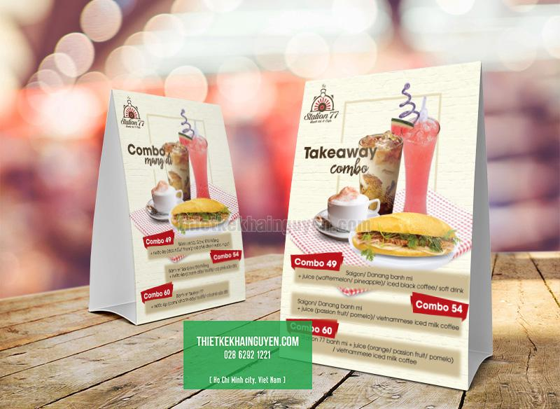 Standee combo - chuyên giới thiệu các combo hấp dẫn tại quán cafe