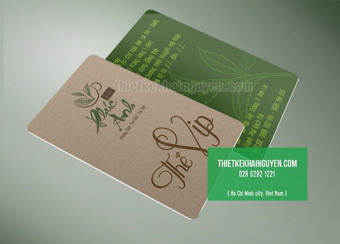 Mẫu thẻ vip quán trà đạo