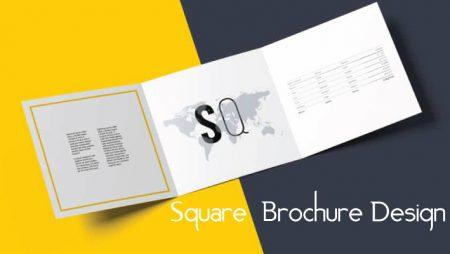 Làm brochure hình vuông sáng tạo đơn giản và hiệu quả