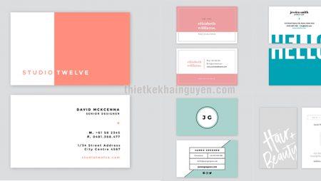 Card visit đối lập – xu hướng thiết kế name card của thế giới