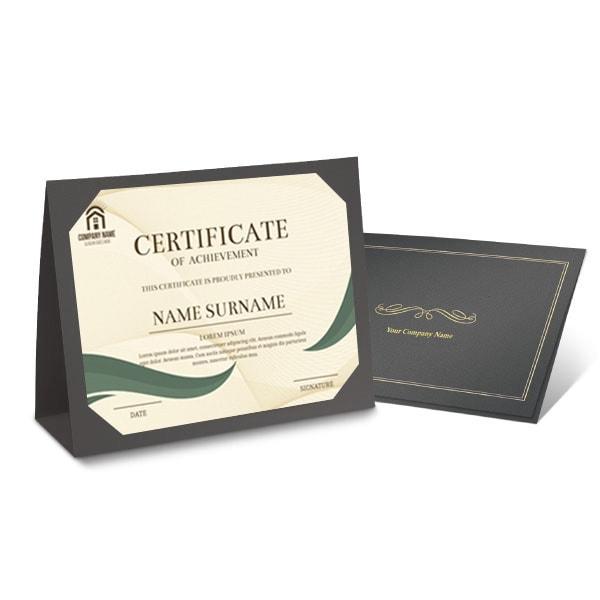 Bìa giấy chứng nhận - dạng để bàn