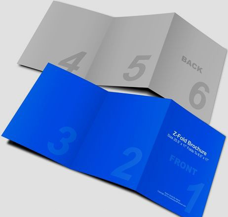Các kiểu gấp brochure phổ biến - z fold brochure