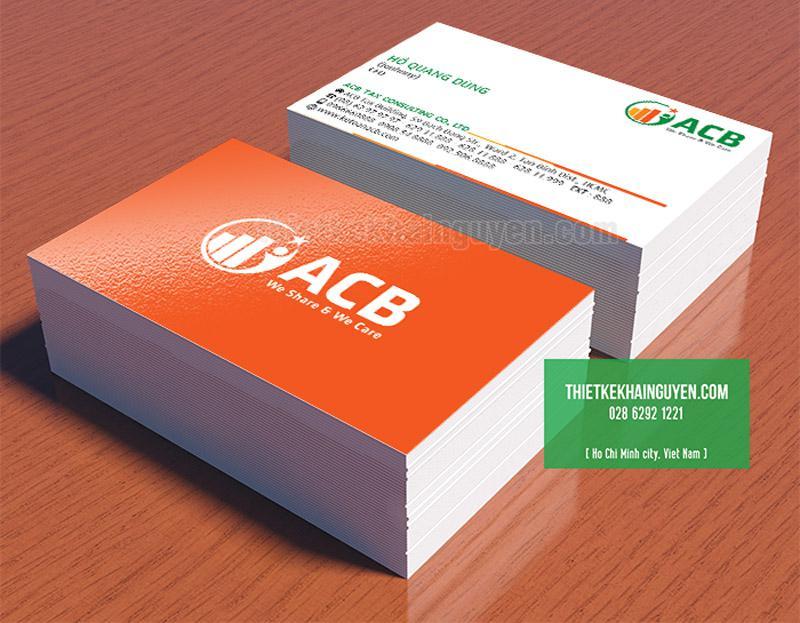 Mẫu thiết kế card visit công ty ACB