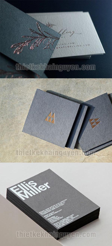 Card visit ép kim đặc sắc trên giấy mỹ thuật