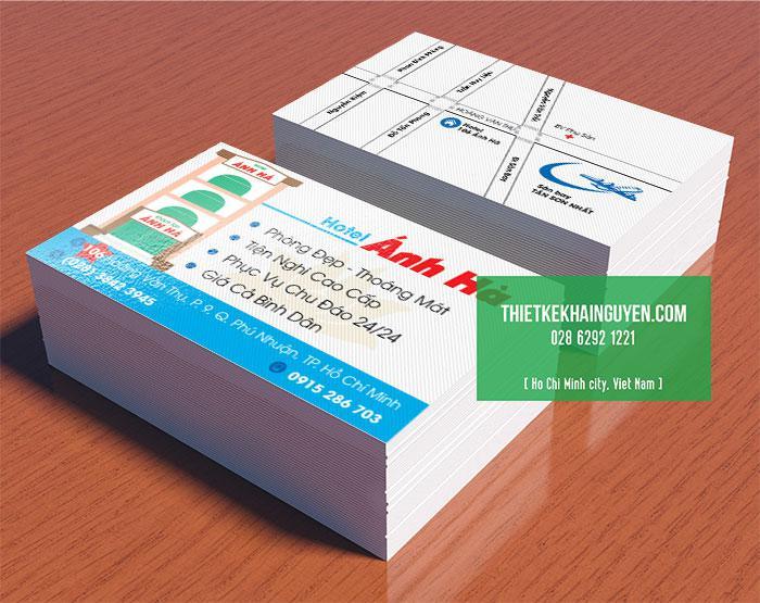 Mẫu thiết kế card visit khách sạn