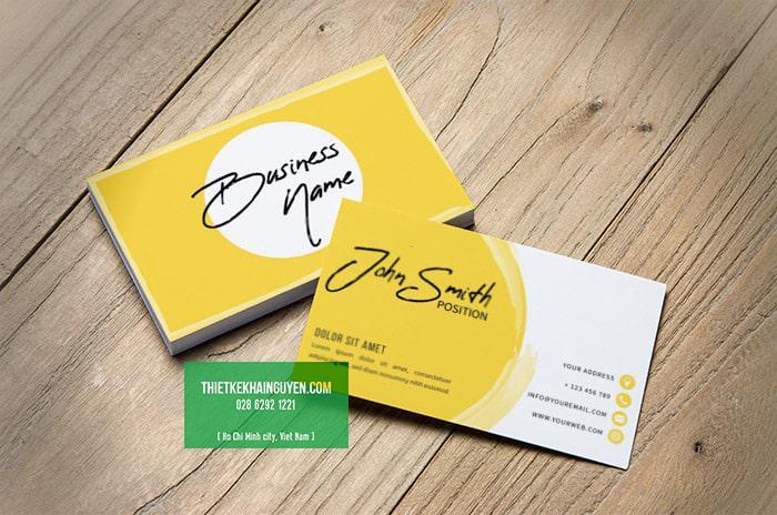 Thiết kế name card miễn phí với font chữ thư pháp